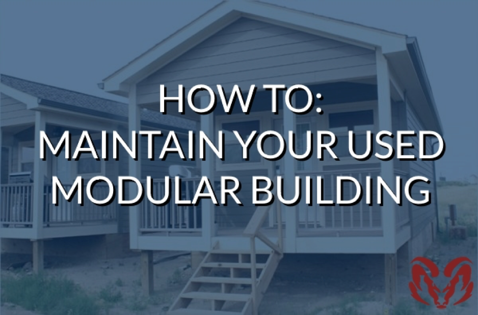 maintain your used modular building